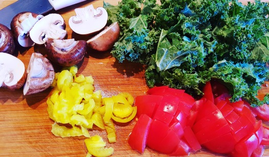 kale,mushrooms,tomatoes
