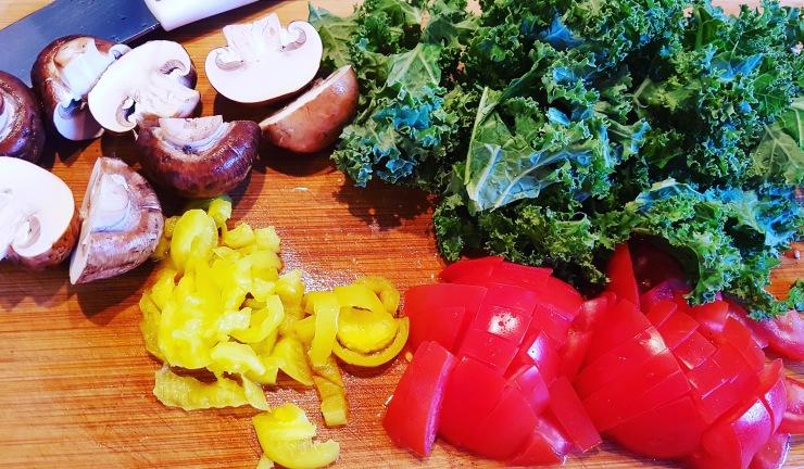 kale,mushrooms,tomatoes