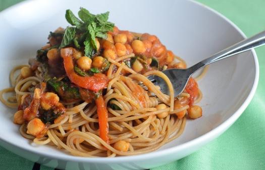 chickpea spaghetti